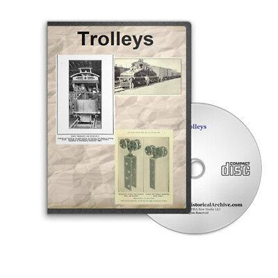 Trolley Cars and Trolley Train Rail Railroad Travels 12 Books on CD D331