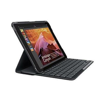 Logitech iPad Slim Folio Case with Wireless Keyboard with Bluetooth - Black