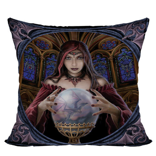 CRYSTAL BALL Witch Decorative Pillow Cushion gothic fantasy art Anne Stokes