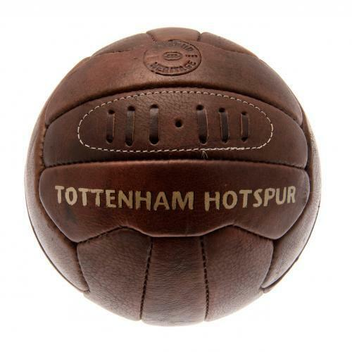 Tottenham Hotspur Fc Spurs Retro Heritage Football Brown Leather Old Style New