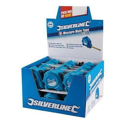 Silverline 30pc Measure Mate Tape Display Box Builders Measure DIY - 5m x 19mm