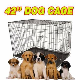 """Brand New 42"""" XLarge Collapsible Metal Pet Dog Puppy Cage Crate"""