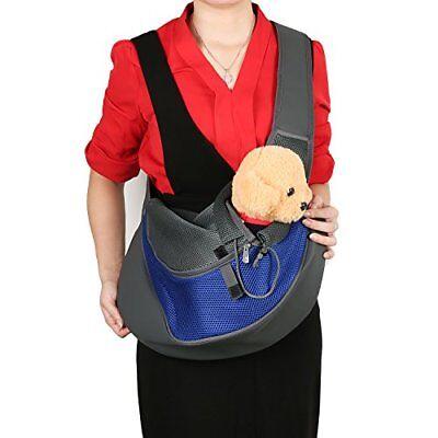BIG WING Pet Sling Carrier for Dog Cat Pets Travel Shouder Bags Blue Large Size