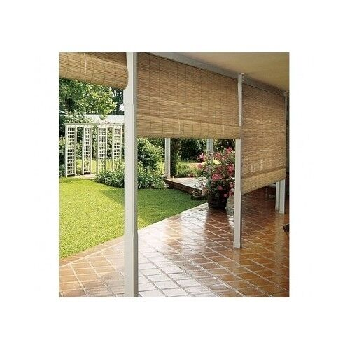 Outdoor Blinds Bamboo Shades Roll Up Sun Shade Patio Porch Deck Window Natural
