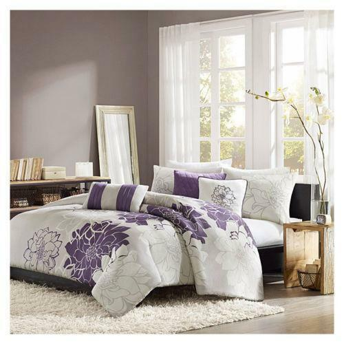 Purple Grey Comforter Ebay