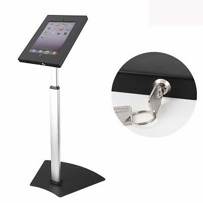 Locking Stand - IPAD FLOOR STAND ANTI-THEFT KIOSK SECURITY WITH LOCK FITS IPAD 2 3 4 AIR