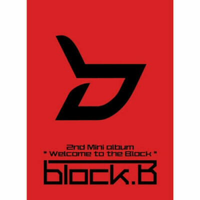 BLOCK B [WELCOME TO THE BLOCK] 2nd Mini Album NORMAL Ver CD+Foto Buch SEALED