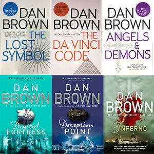 Dan Brown Collection (Digital Fortress, The Da vinci Code, Inferno) 6 Books Set