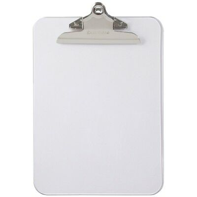 Saunders Transparent Clipboard With High Capacity Clip - 1 Capacity - 8.5 X