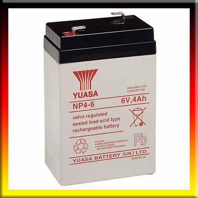 Yuasa 6 Voltios 4AH Batería Eléctrico Coche Juguete Genuino Y4-6,NP4.5-6,6V