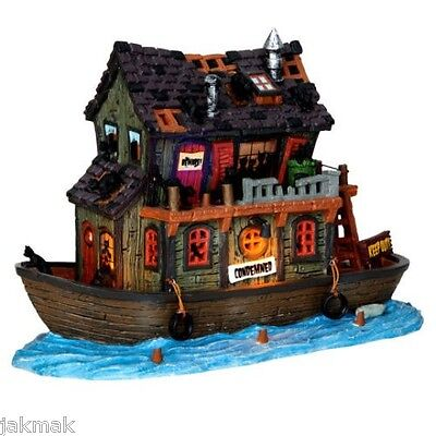 Lemax Spooky Burgh HAUNTED HOUSEBOAT New Signature Halloween Lights+Music