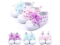 Baby Girl Floral Pram Shoes