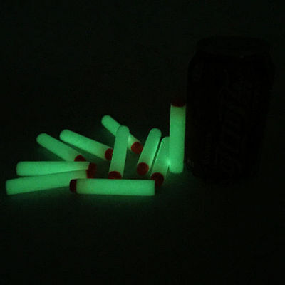 50 LUMINOUS GLOW IN THE DARK Refill Bullets for Nerf N-Strike Elite Gun *CHEAP*