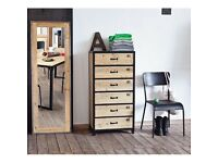 NEW Chest of 6 drawers (Metal semainier)