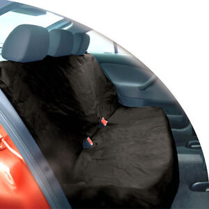 BLACK HEAVY DUTY WATERPROOF CAR REAR BACK SEAT PROTECTOR PET COVER UNIVERSAL FIT