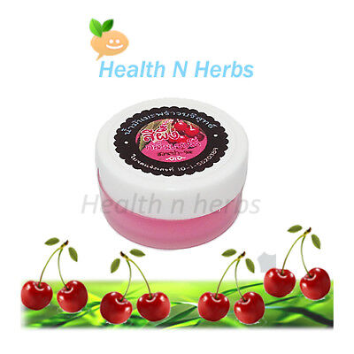 (COLD-PRESSED COCONUT OIL & CHERRY LIP BALM SALVE PURE NATURAL LIP CARE)