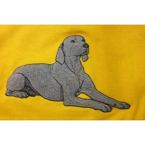 Embroidered Ladies Fleece Jacket - Weimaraner AD220 Sizes S - XXL