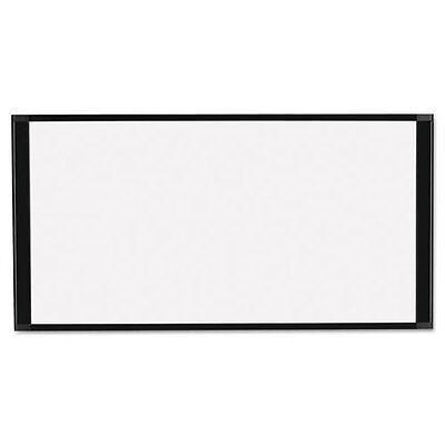 Mastervision Cubicle Workstation Dry Erase Board 36 X 18 Black Aluminum Frame