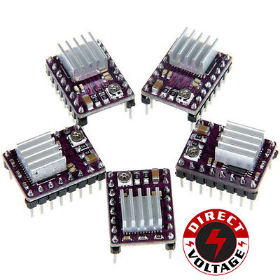 5 Pcs Stepstick Drv8825 Stepper Motor Driver Module 3d Printer Ramps1.4 Reprap
