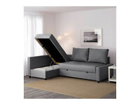 Corner sofa-bed with storage (IKEA FRIHETEN) £299