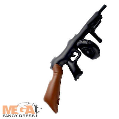 Inflatable Gangster Tommy Gun Fancy Dress 1920s 1930s Costume Movie Accessory