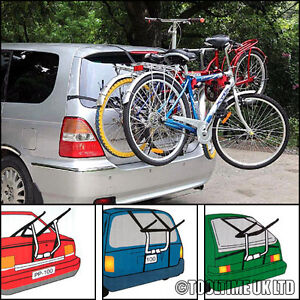 3 BIKE CYCLE CARRIER BIKE RACK + 6 CLAMPS CAR SALOON HATCHBACK ESTATE
