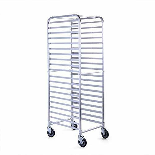 20 Pan Commercial Aluminum End Load Restaurant Bakery Bun / Sheet Pan Speed Rack