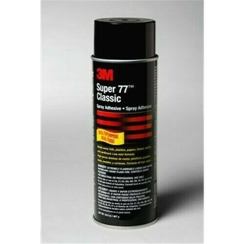 Case of 3M Super 77 Multipurpose Spray Adhesive - 16.5 oz (12 cans)