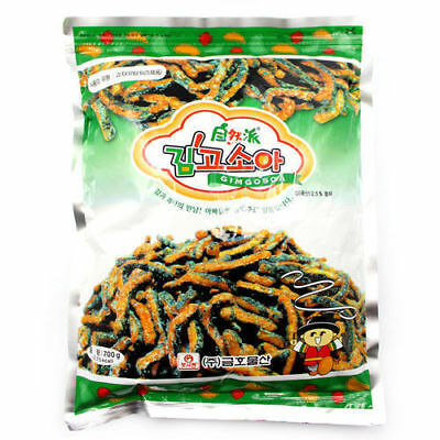 600g Korean Fried Seaweed Laver Snack Sweet Crunchy Delicious_NU