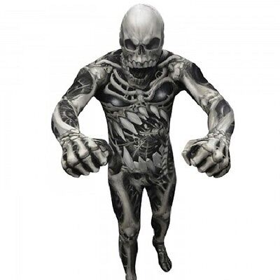 MORPHSUIT SKULL AND BONES MONSTER ADULT BODY SUIT HALLOWEEN DELUXE - Skull And Bones Halloween