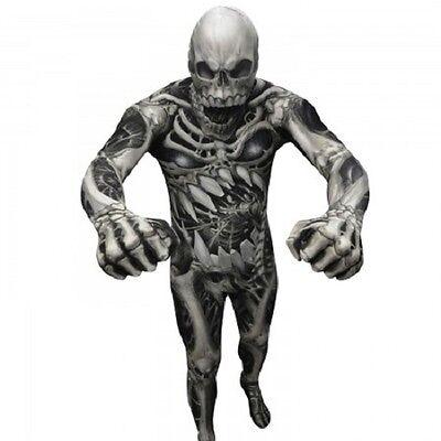 MORPHSUIT SKULL AND BONES MONSTER ADULT BODY SUIT HALLOWEEN DELUXE COSTUME (Body Suit Halloween)