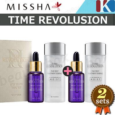 2 Sets MISSHA Time Revolution Treatment Essence 30ml+Night Repair Ampoule 10ml