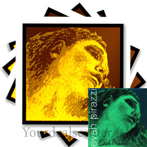 ^ Evah Pirazzi Gold Violin String Set 4/4 GOLD  G--- EVAH Pirazzi Gold E Ball