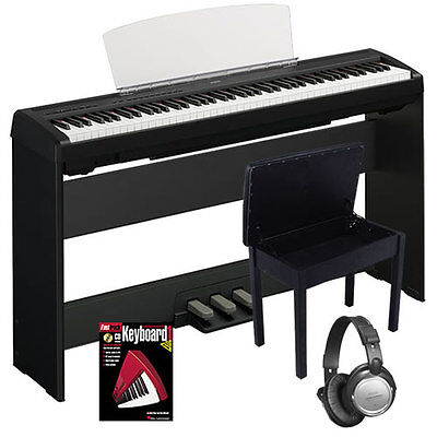 Yamaha P95 Black P-95B 88-Key Digital Piano COMPLETE HOME BUNDLE on Rummage