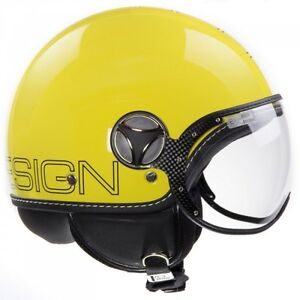 MOMO FGTR Glam Yellow Scooter Helmets - Medium and Extra Large