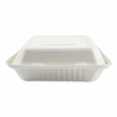 Boardwalk Bagasse 3-compartment Container 200 Containers Bwkhingewf3cm9