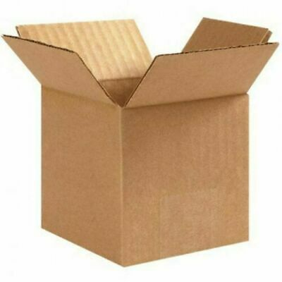 200 4x4x4 Cardboard Packing Moving Shipping Boxes Corrugated Box Cartons New