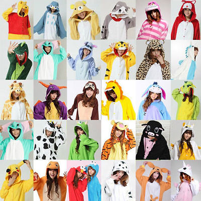 Animal Costume Pajamas (Adult Fleece Unisex  Kigurumi Animal Pajamas Cosplay Costume Sleepwear)