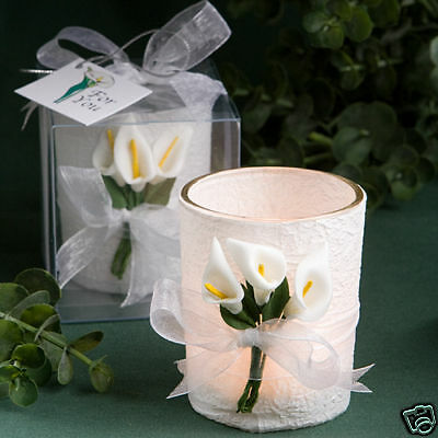 4 Calla Lily Theme design candle favors wedding favors Bridal Shower Favor Bridal Calla Lily Favors