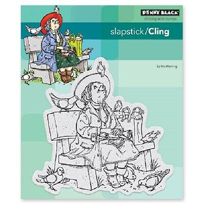 PENNY BLACK RUBBER STAMPS SLAPSTICK CLING AUNT HELEN NEW cling STAMP