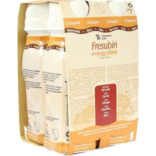 FRESUBIN ENERGY Fibre DRINK Kirsche Trinkflasche 4X200 ml