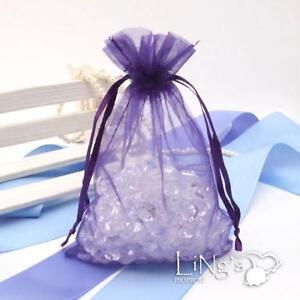 Purple Organza Bags