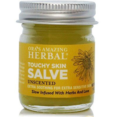 Natural Herbal Salve Eczema Relief Sensitive Dry Skin Unscented Touchy Skin Dry Skin Ointment