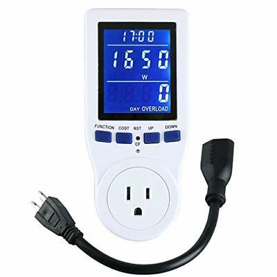 Lifestores Electricity Usage Monitor Power Meter Plug Extension Cord NEW