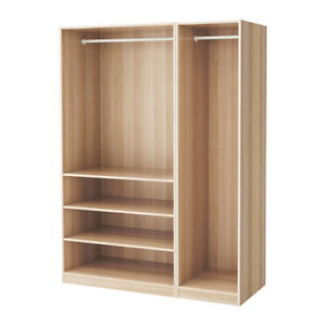 IKEA pax wardrobe komplement shelves ONLY whitestainedoakeffect