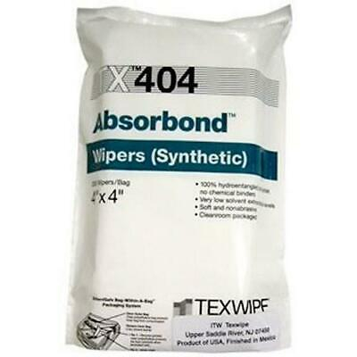 "Texwipe TX404 Absorbond Hydroentangled Polyester Wipes, 4"" x 4"", 1200/Bag"