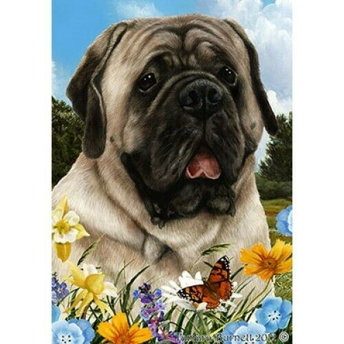 Summer Garden Flag - Silver Mastiff 182771
