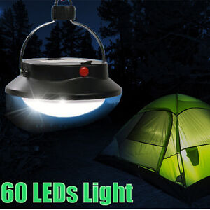 Bright 60 LED Outdoor Camping Tent Light Lantern Hanging Fishing Lamp New