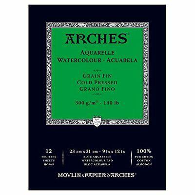 """Arches Watercolor Paper Pad 140 pound Cold Press 9""""x12"""""""