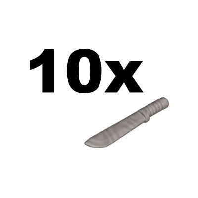 NEW LEGO - Weapon - sword - Machete Flat Silver x10 - town city jungle ()
